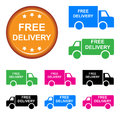Free delivery truck on white background Royalty Free Stock Images