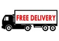 Free Delivery Truck Royalty Free Stock Photo