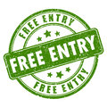 Free entry rubber stamp Royalty Free Stock Photo