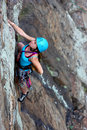 Free female climber Royalty Free Stock Photo