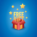 Free gift box vector illustration of a magical showing Royalty Free Stock Photography