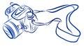 Free Hand Sketch Of DSLR Camer...