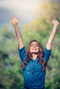 Free Happy Woman Enjoying Nature. Outdoor. Freedom Royalty Free Stock Photo