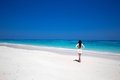Free Happy Woman Enjoying tropical beach, girl walking on exotic Royalty Free Stock Photo