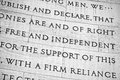 Free and independent words detail inside the rotunda of the jefferson memorial in washington dc Stock Photos