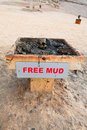 Free mud on coast of Dead Sea Royalty Free Stock Photo