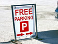 Free parking Royalty Free Stock Photo