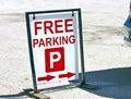 Free parking Royalty Free Stock Photo