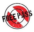 Free Pass rubber stamp Royalty Free Stock Photo