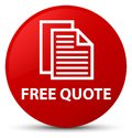 Free quote red round button Royalty Free Stock Photo