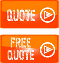 Free quote web button orange Stock Image