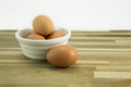 Free range eggs. Royalty Free Stock Photos