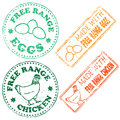 Free Range Stamp Royalty Free Stock Photography