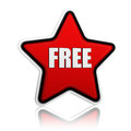 Free in red star Royalty Free Stock Photos