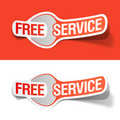 Free service labels Stock Image