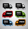 Free shippement and delivery illustration of icons shipments vector Stock Image