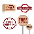 Free shipping advertisement labels for a great offer for customers Royalty Free Stock Images