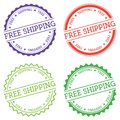 Free Shipping badge isolated on white background. Royalty Free Stock Photo