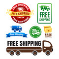 Free Shipping Badges And Icons Royalty Free Stock Photo