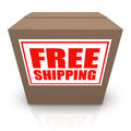 Free Shipping Brown Cardboard Box Order Shipment Royalty Free Stock Image