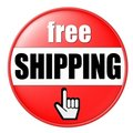 Free Shipping Button Royalty Free Stock Photo