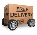 Free shipping cardboard box Royalty Free Stock Photography