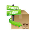 Free shipping concept illustration in french over white Stock Photo