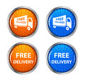 Free shipping delivery icon set vector illustration this is file of eps format Stock Photos