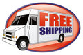 Free Shipping Delivery Truck White Royalty Free Stock Photo