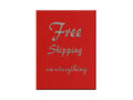Free shipping on everything illustration a red woodgrain background Royalty Free Stock Photos