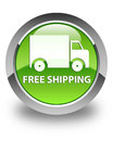 Free shipping glossy green round button Royalty Free Stock Photo
