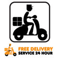 A Free Shipping Icon Stock Image
