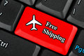 Free Shipping icon button Stock Images