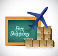 Free shipping illustration design over a white background Royalty Free Stock Photo
