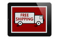 Free Shipping on Online Purchases Royalty Free Stock Photo