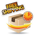 Free shipping orange icon Royalty Free Stock Photography