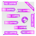 Free Shipping Purple Label Design Royalty Free Stock Photo