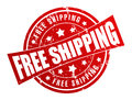 Free shipping rubber stamp illustration Royalty Free Stock Photo