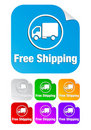 Free shipping,square stickers Stock Photo