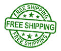 Free Shipping Stamp Showing No Charge Or Gratis To Deliver Royalty Free Stock Photo