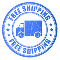 Free shipping vector rubber stamp Royalty Free Stock Photo