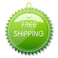 Free shipping tag Stock Photo