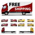Free Shipping truck Royalty Free Stock Photo