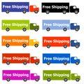 Free Shipping Truck Logos Royalty Free Stock Photos
