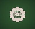 Free SignUp label Stock Image