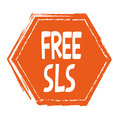 Free SLS hand drawn isolated label