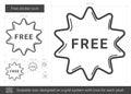 Free sticker line icon.