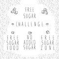 Free sugar label set