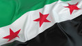 Free Syrian Army Flag Royalty Free Stock Photo