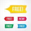 free tag, free sign, free label Royalty Free Stock Photo